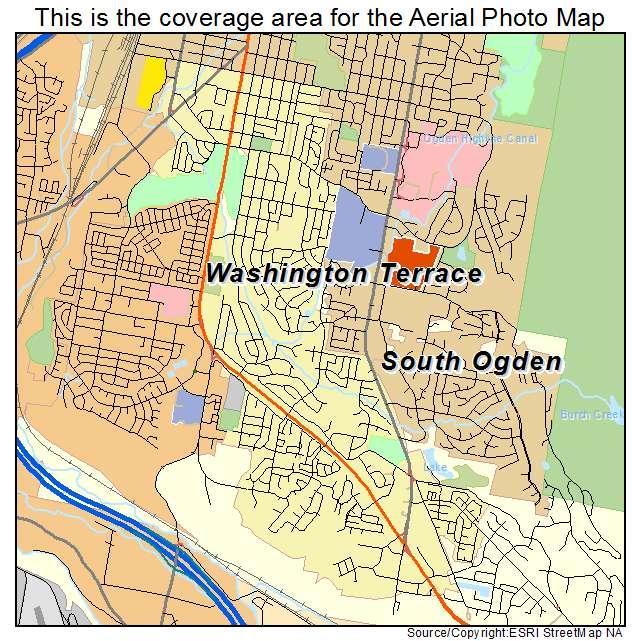 Aerial Photography Map Of South Ogden UT Utah