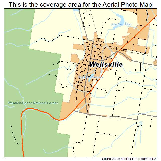 Wellsville Utah Map.Aerial Photography Map Of Wellsville Ut Utah