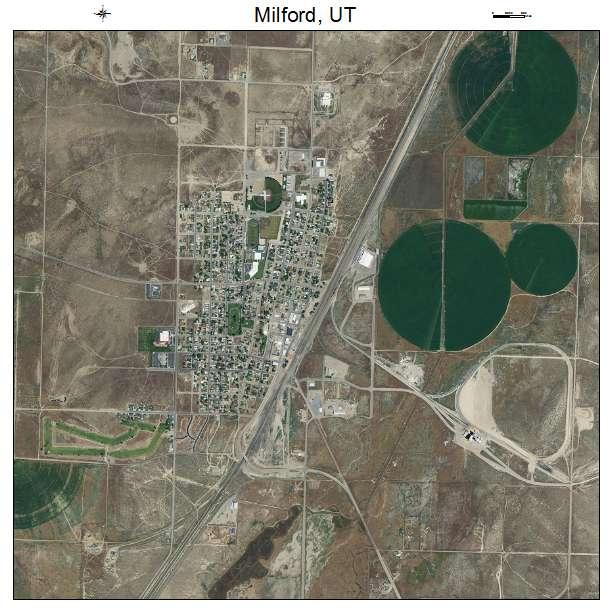 Milford Utah Map.Aerial Photography Map Of Milford Ut Utah