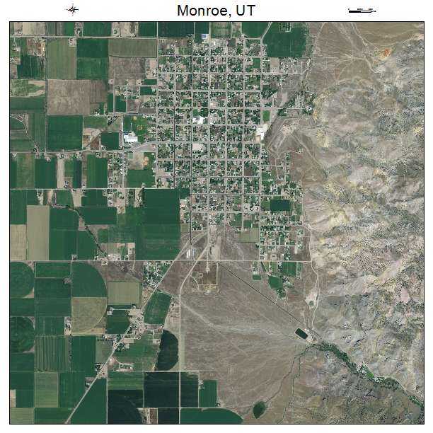 Aerial Photography Map Of Monroe Ut Utah