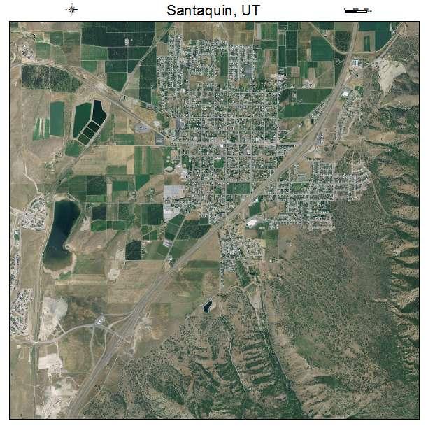 Aerial Photography Map Of Santaquin Ut Utah
