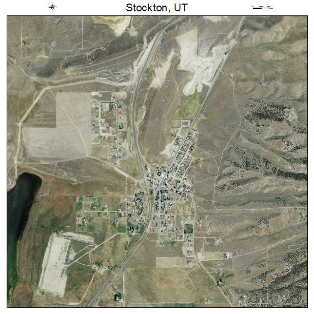 Stockton, UT air photo map