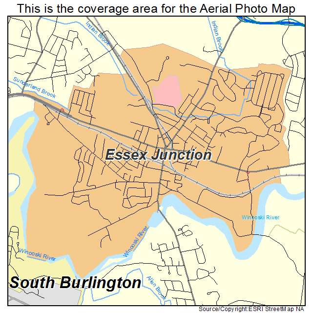 Essex Vermont Map Aerial Photography Map of Essex Junction, VT Vermont