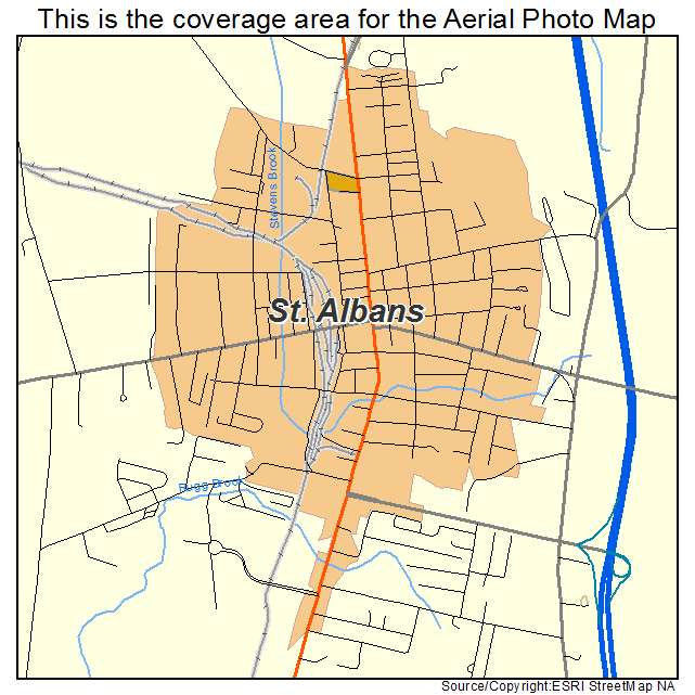 Aerial Photography Map of St Albans VT Vermont