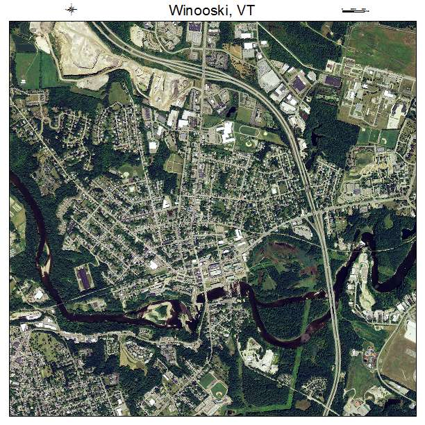 Aerial Photography Map of Winooski VT Vermont