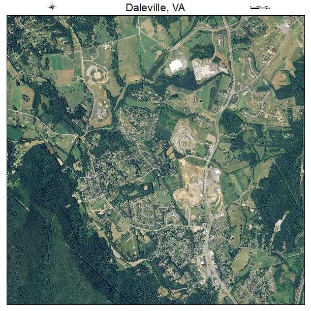 Daleville, VA air photo map