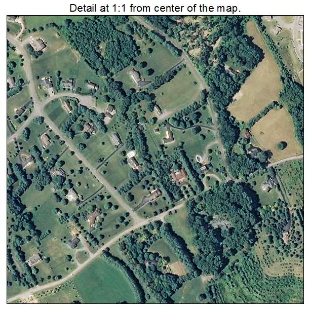 Daleville, Virginia aerial imagery detail