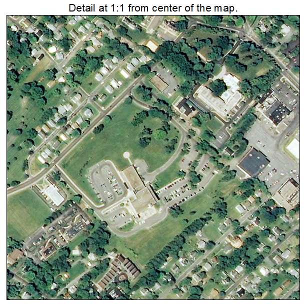 Lexington, Virginia aerial imagery detail