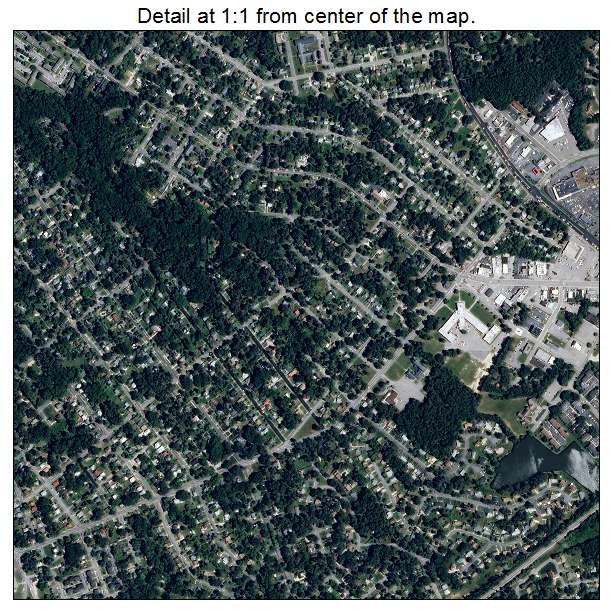 Petersburg, Virginia aerial imagery detail