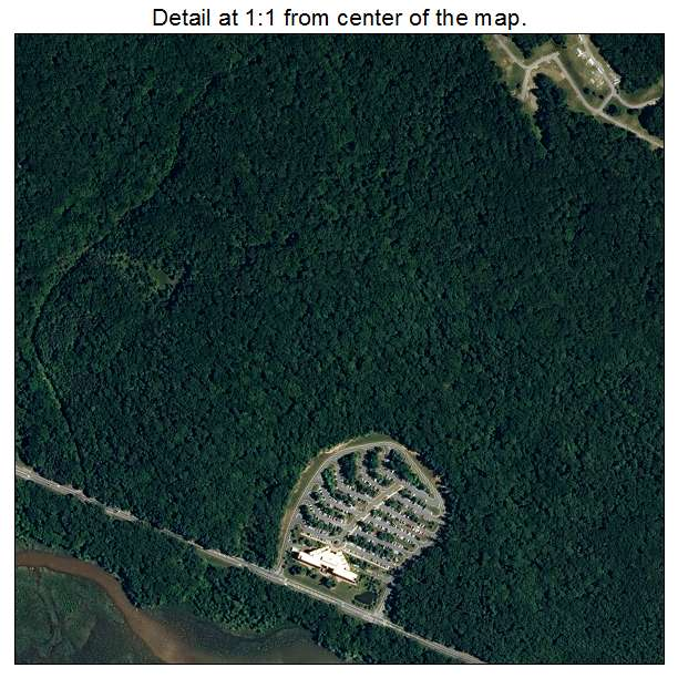 Quantico Station, Virginia aerial imagery detail