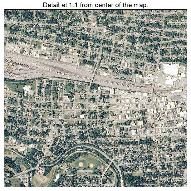 Roanoke, Virginia aerial imagery detail