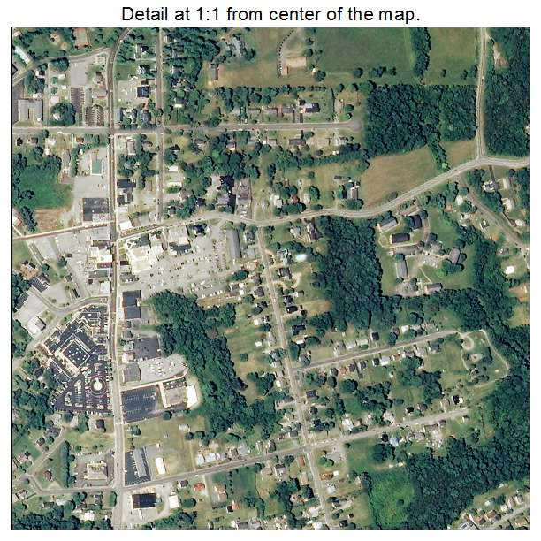 Rocky Mount, Virginia aerial imagery detail