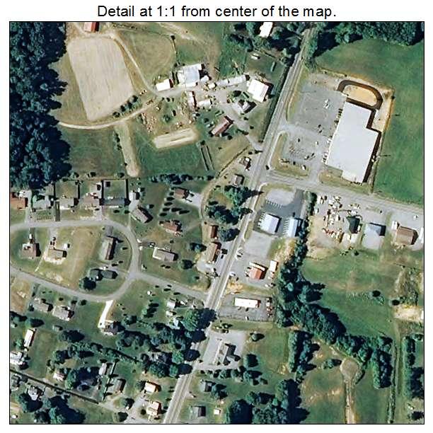 Rural Retreat, Virginia aerial imagery detail