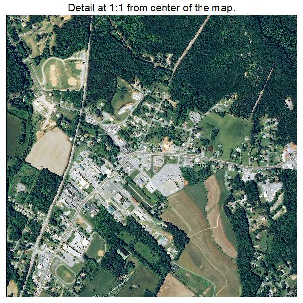 Rustburg, Virginia aerial imagery detail