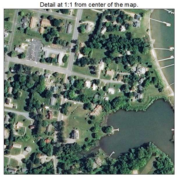 Urbanna, Virginia aerial imagery detail