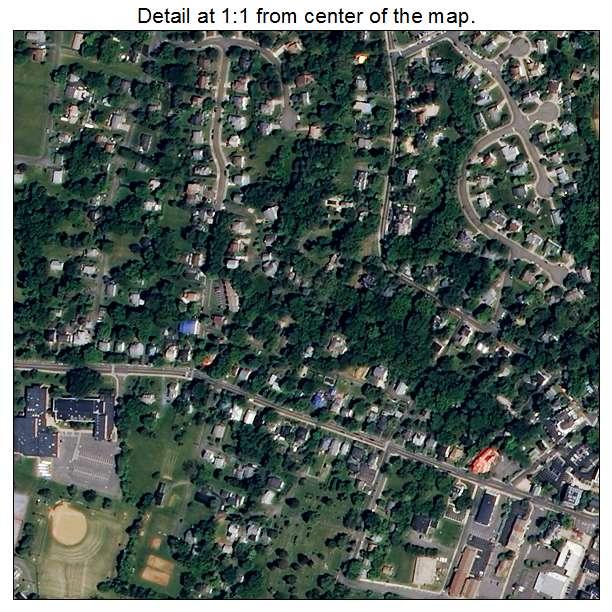 Warrenton, Virginia aerial imagery detail