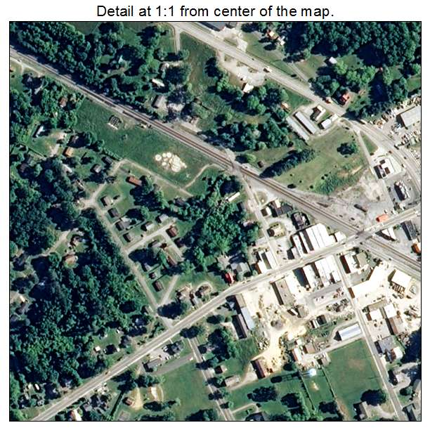 Waverly, Virginia aerial imagery detail
