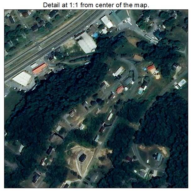 Weber City, Virginia aerial imagery detail