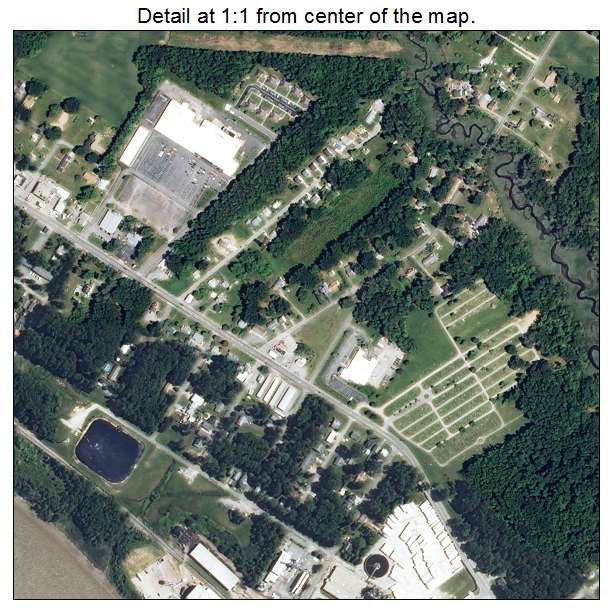 West Point, Virginia aerial imagery detail