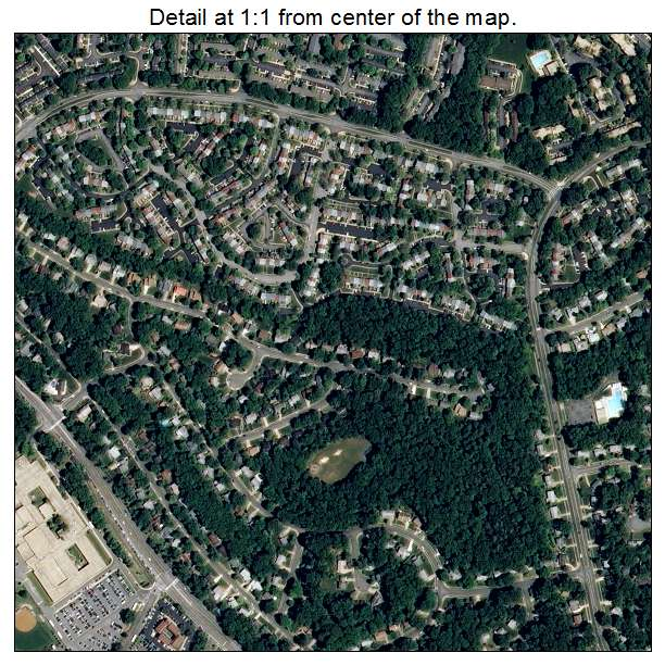 West Springfield, Virginia aerial imagery detail