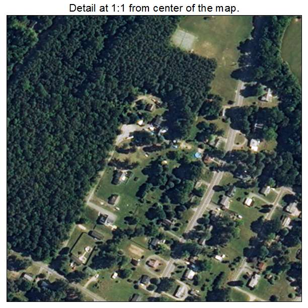 White Stone, Virginia aerial imagery detail