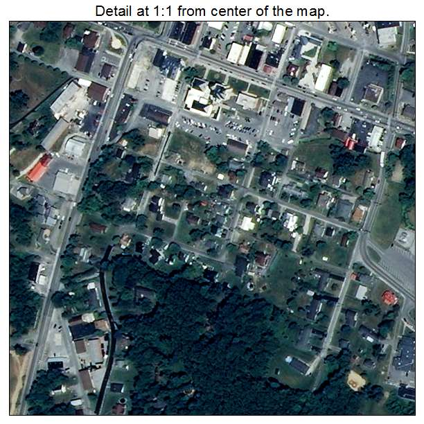 Wise, Virginia aerial imagery detail
