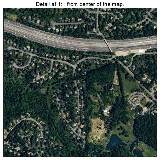 Wolf Trap, Virginia aerial imagery detail