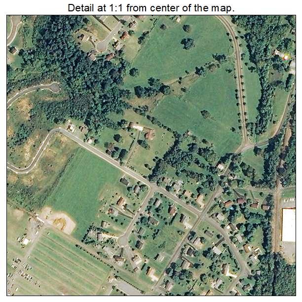 Woodstock, Virginia aerial imagery detail