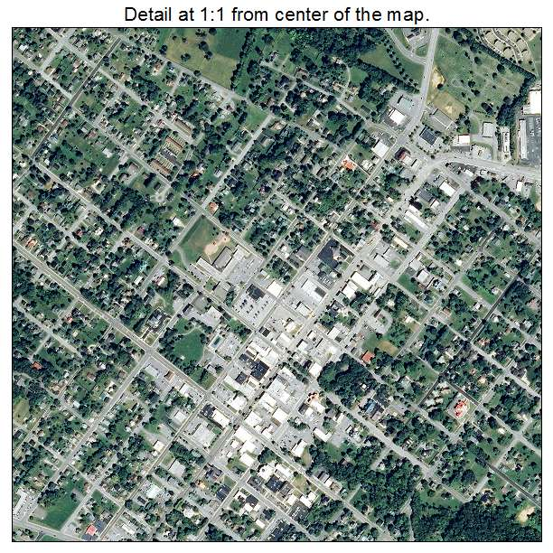 Wytheville, Virginia aerial imagery detail