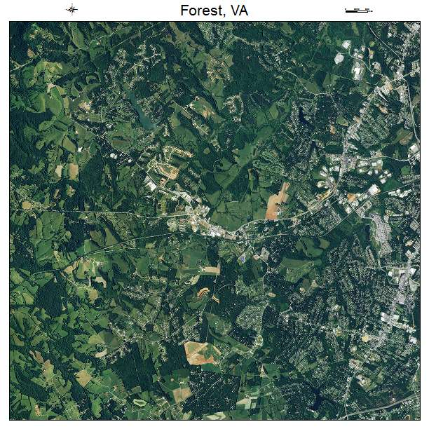 Aerial Photography Map of Forest VA Virginia