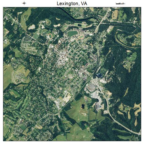 Lexington, VA air photo map