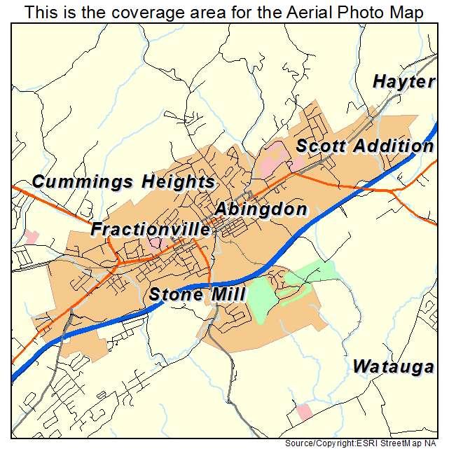 Abingdon Virginia Map.Aerial Photography Map Of Abingdon Va Virginia