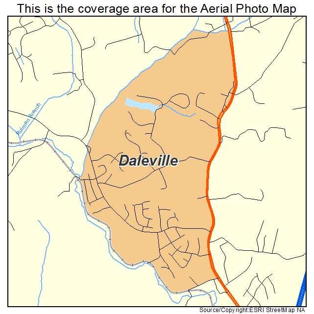 Daleville, VA location map