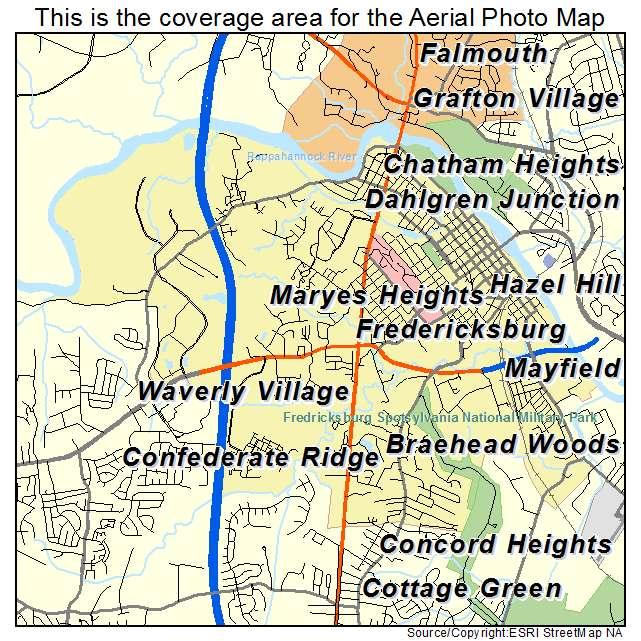 Aerial photography map of fredericksburg va virginia fredericksburg va location map sciox Image collections
