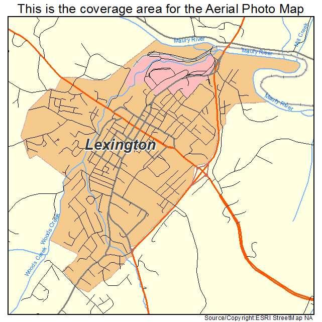 Lexington, VA location map