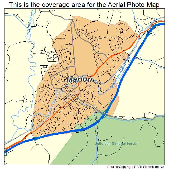 Marion Virginia Map.Aerial Photography Map Of Marion Va Virginia
