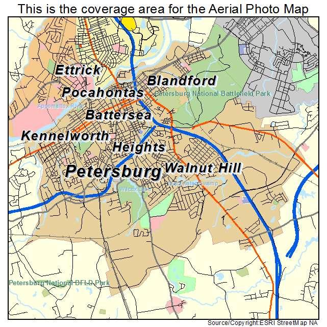 Petersburg, VA location map