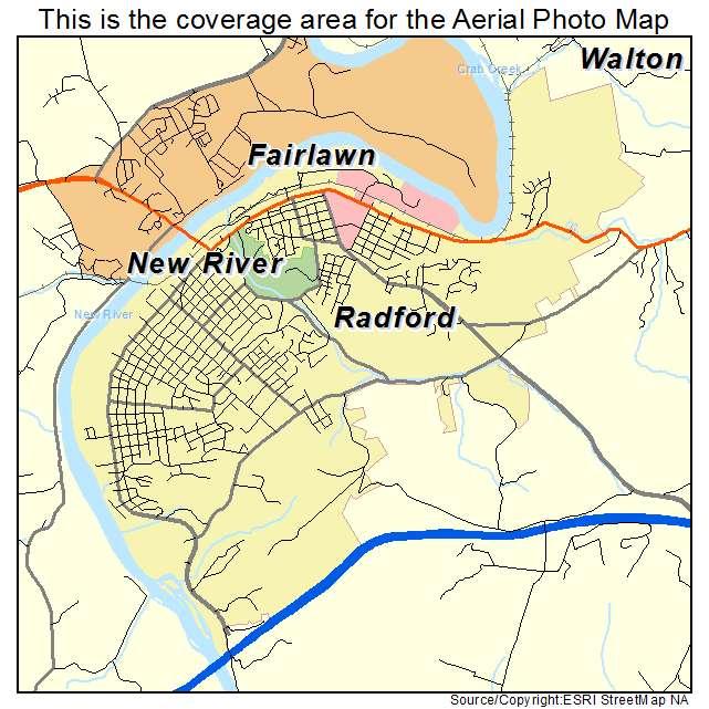 Radford, VA location map
