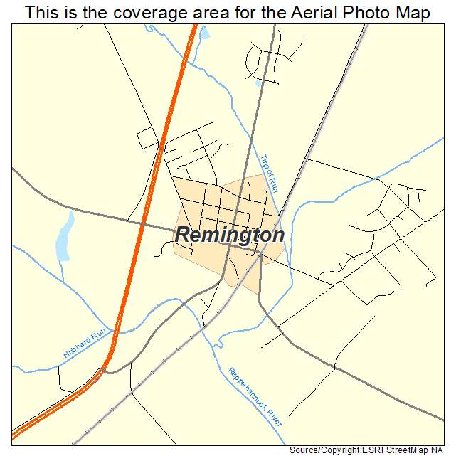 Remington, VA location map