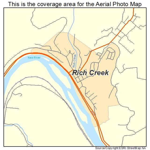 Rich Creek, VA location map