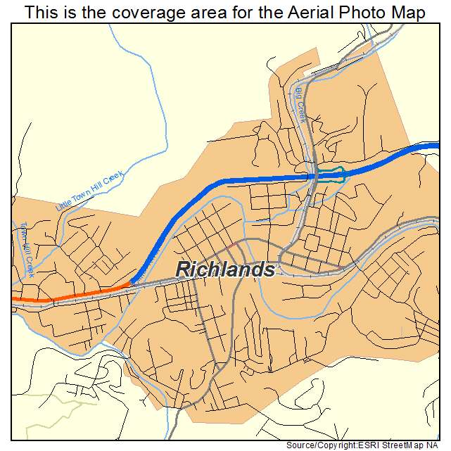 Richlands, VA location map