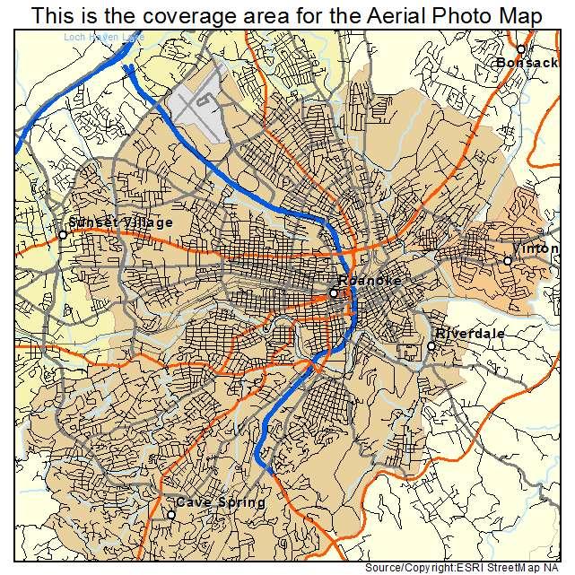 Roanoke, VA location map