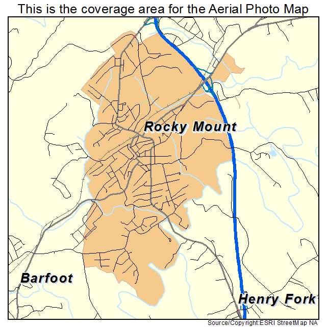 Rocky Mount, VA location map