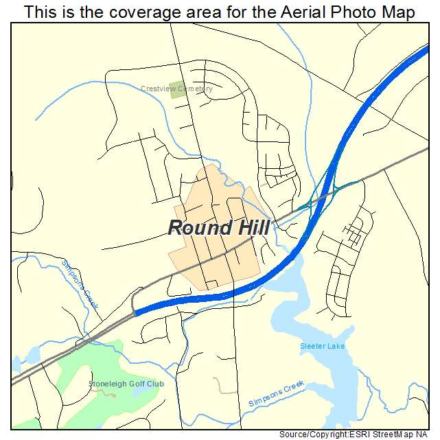 Round Hill, VA location map