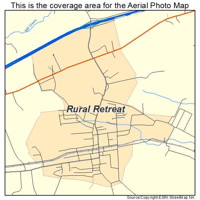Rural Retreat, VA location map