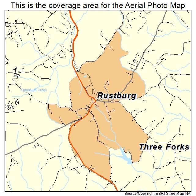 Rustburg, VA location map