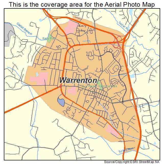 Warrenton, VA location map