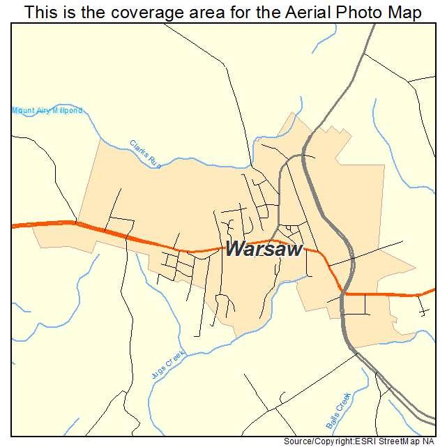 Warsaw, VA location map