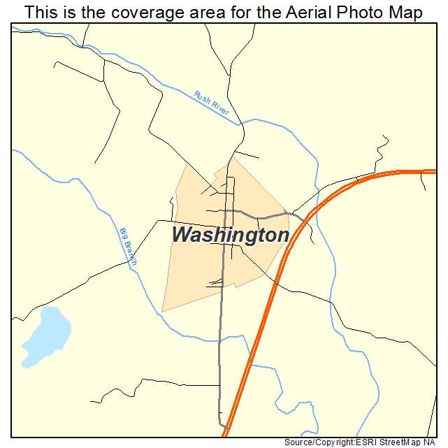 Washington, VA location map