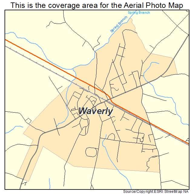 Waverly, VA location map